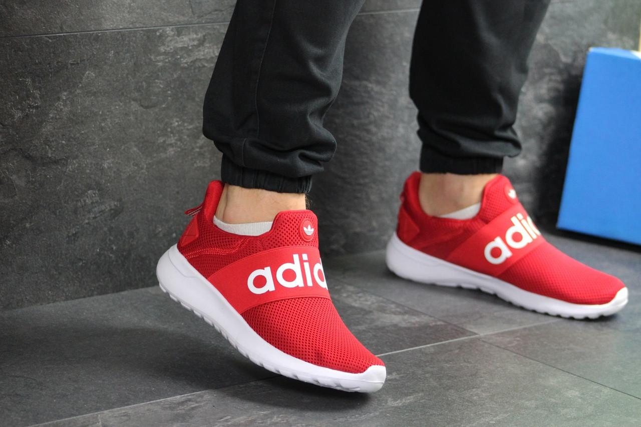Мужские летние кроссовки Adidas,красные,сетка