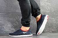 Летние кроссовки Nike Free Run 3.0,темно синие с белым, фото 1