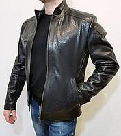 Куртка мужская кожаная Fabiani (с перфорацией)