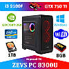 Игровой ПК ZEVS PC 8300U i3 9100F + GTX 750TI  + Игры!