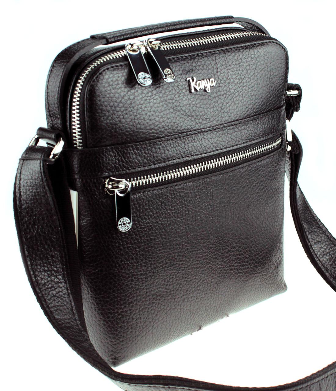 Мужская сумка Karya 0823-45 кожаная черная