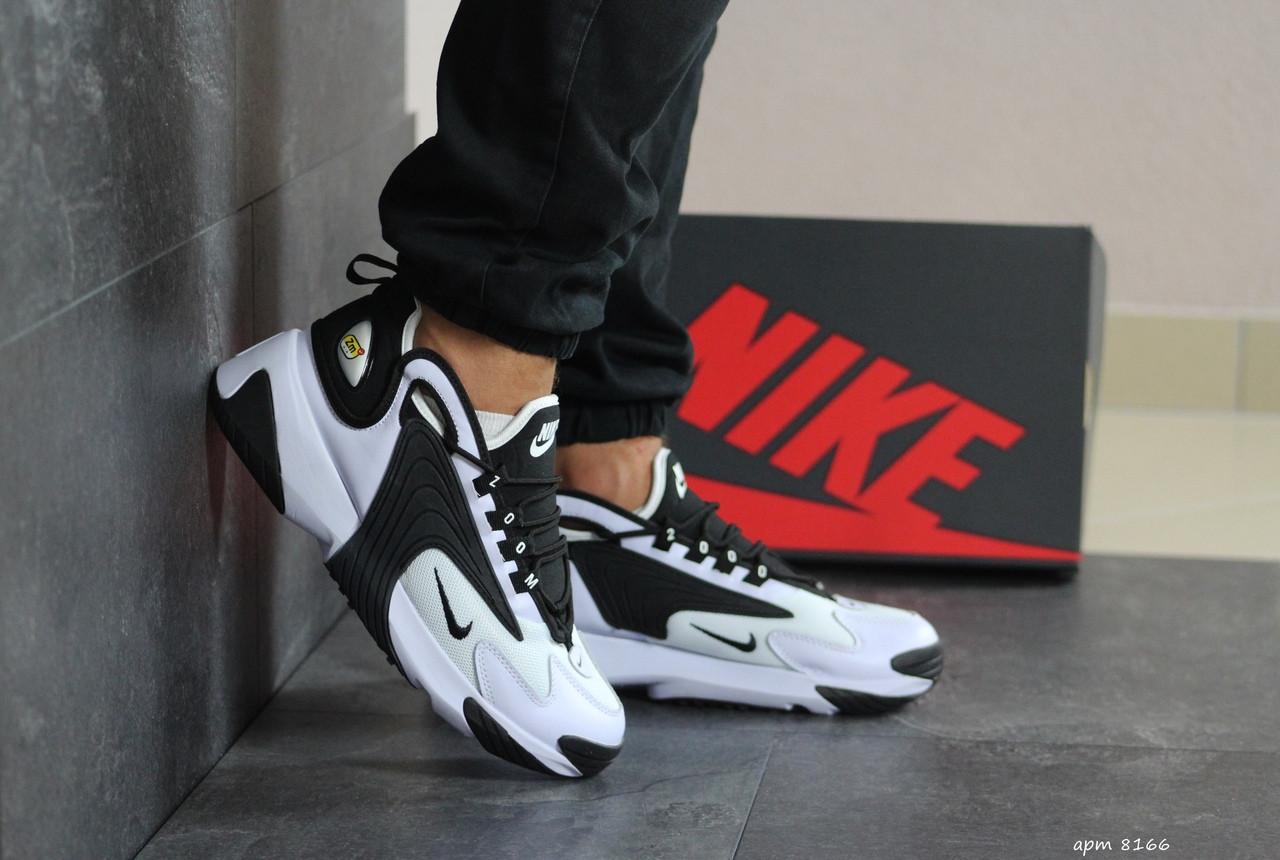 Мужские демисезонные кроссовки Nike Zoom 2K,черно-белые