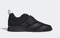 Штангетки Adidas Adipower 2 мужские черные, обувь для тяжелой атлетики и пауэрлифтинга, фото 1
