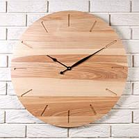 """Деревянные настенные часы """"Eco style Ø60"""" из высокогорного ясеня"""
