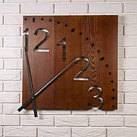 Большие настенные часы из дерева DABO Fourth