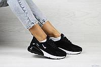 Замшевые женские кроссовки Nike Air Max 270,черно-белые, фото 1