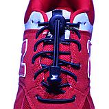 Шнурки для обуви эластичные с металлическими фиксаторами концов шнурка VOLRO Черный (vol-523), фото 4