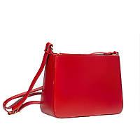 Кожаная сумка, красная