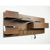 Настенная полка-ключница из массива дерева DABO Wooden Shelf DS10 Olha