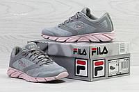 Женские,подростковые кроссовки Fila Megalite W 2.0,летние,серые с розовым, фото 1