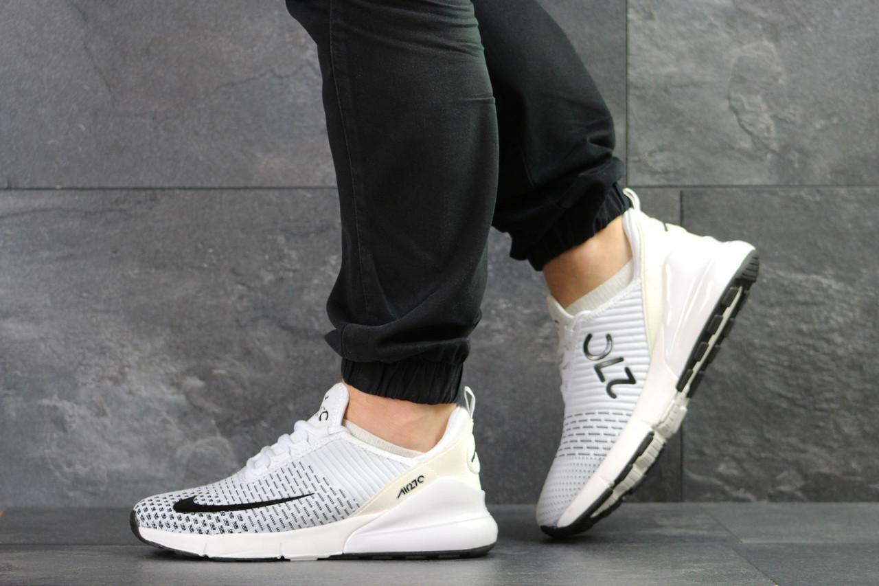 Мужские кроссовки Nike Air Max 270 текстиль, белые 44р