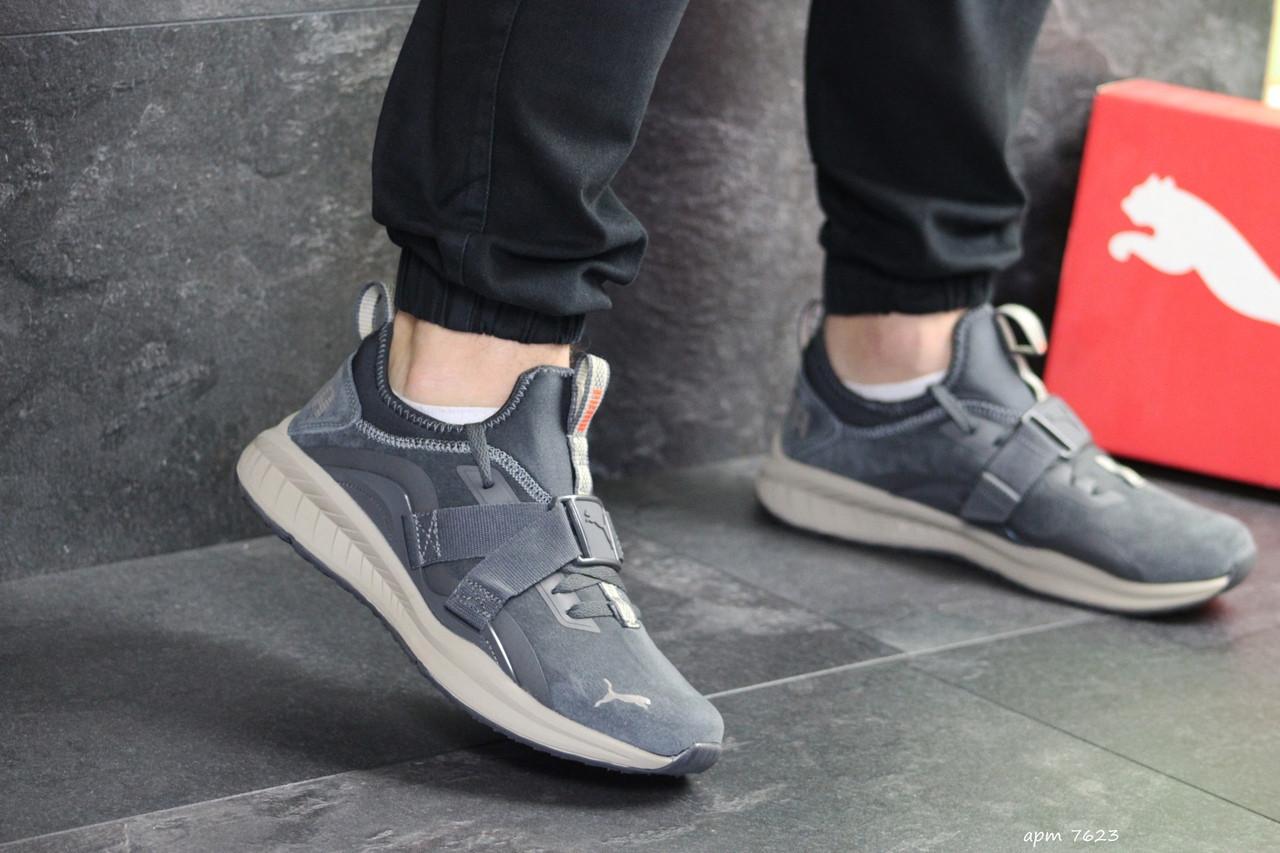 Мужские кроссовки Puma замшевые,серые