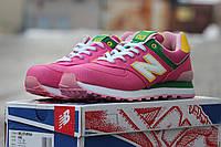 Женские весенние кроссовки New balance encap 574,текстиль,розовые, фото 1