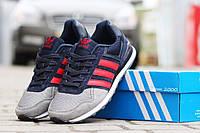 Подростковые кроссовки Адидас, Adidas темно синие с серым 38,39, фото 1