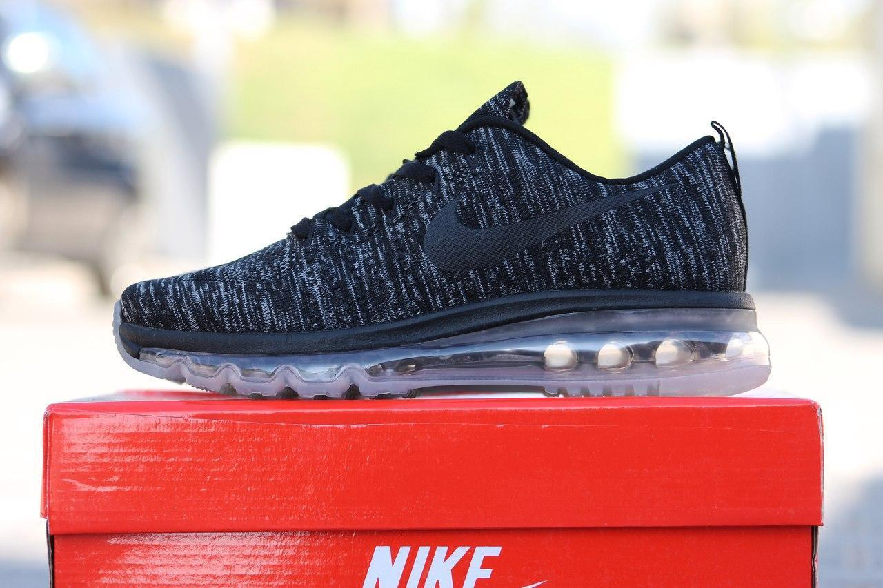 Подростковые кроссовки Nike Air Max Flyknit,текстильные,серые 36,37