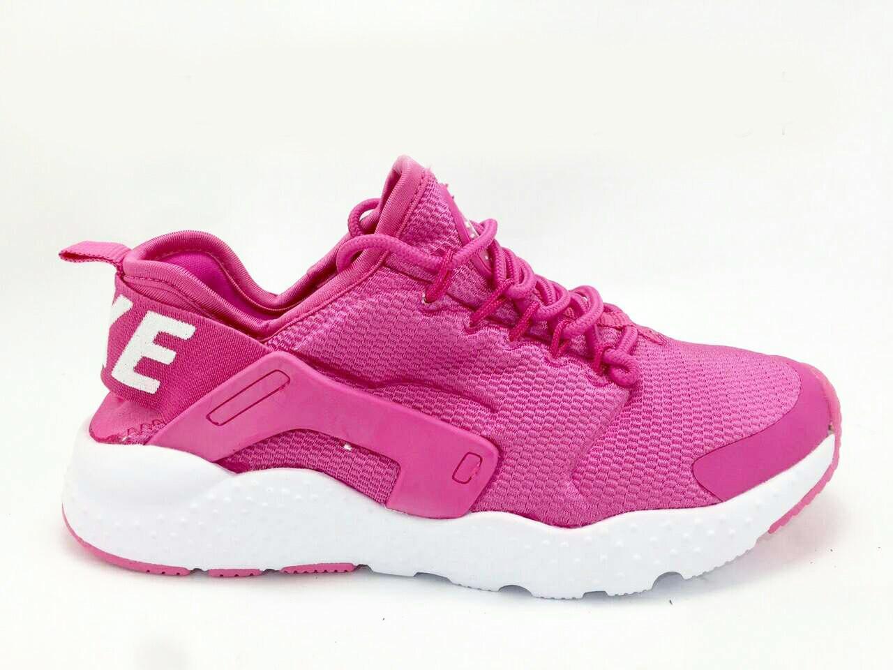 Женские кроссовки Nike Air Huarache,малиновые