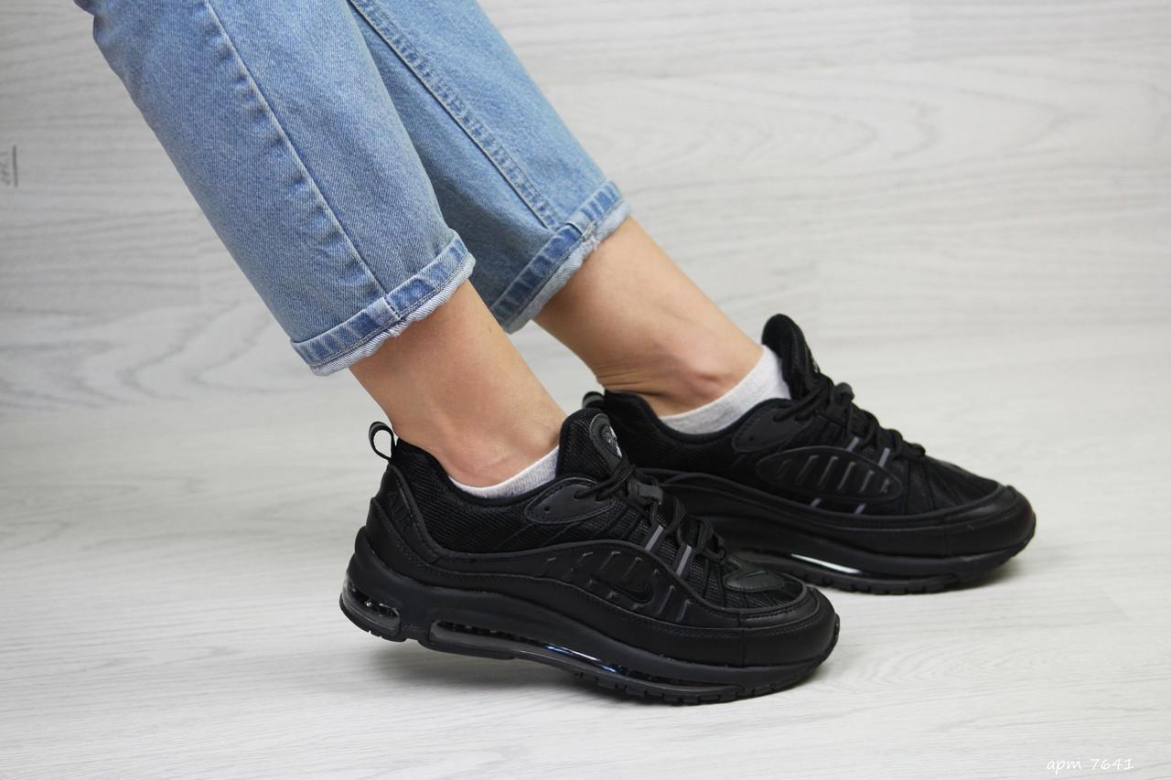 Кроссовки женские,подростковые Nike air max 97,черные