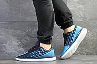 Кроссовки Under Armour,текстиль,темно синие с голубым, фото 1