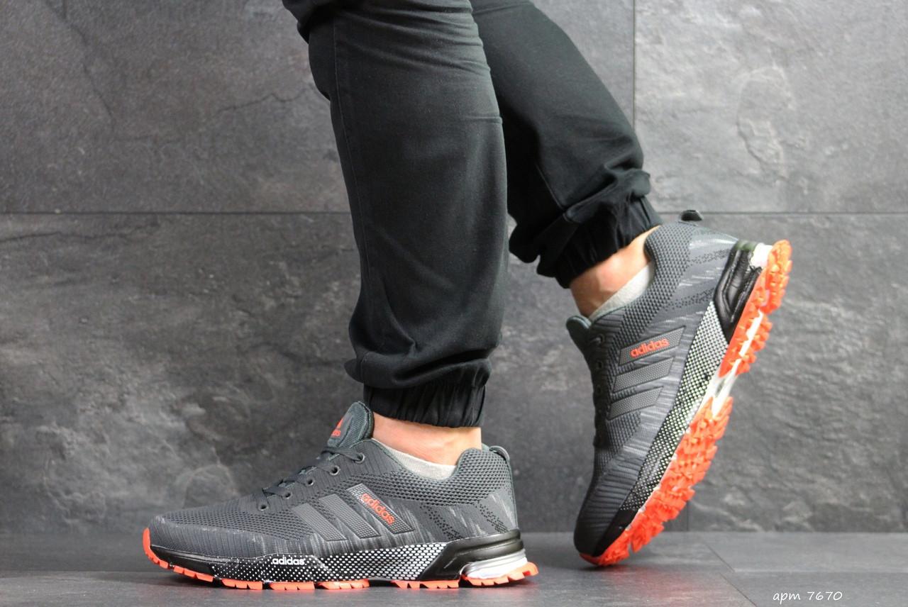 Кроссовки Adidas Marathon,сетка,серые
