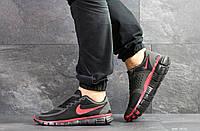 Мужские летние кроссовки Nike Free Run 5.0,черные с красным, фото 1
