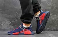 Кроссовки Мужские Adidas NMD Human Race,сетка,темно синие с красным, фото 1