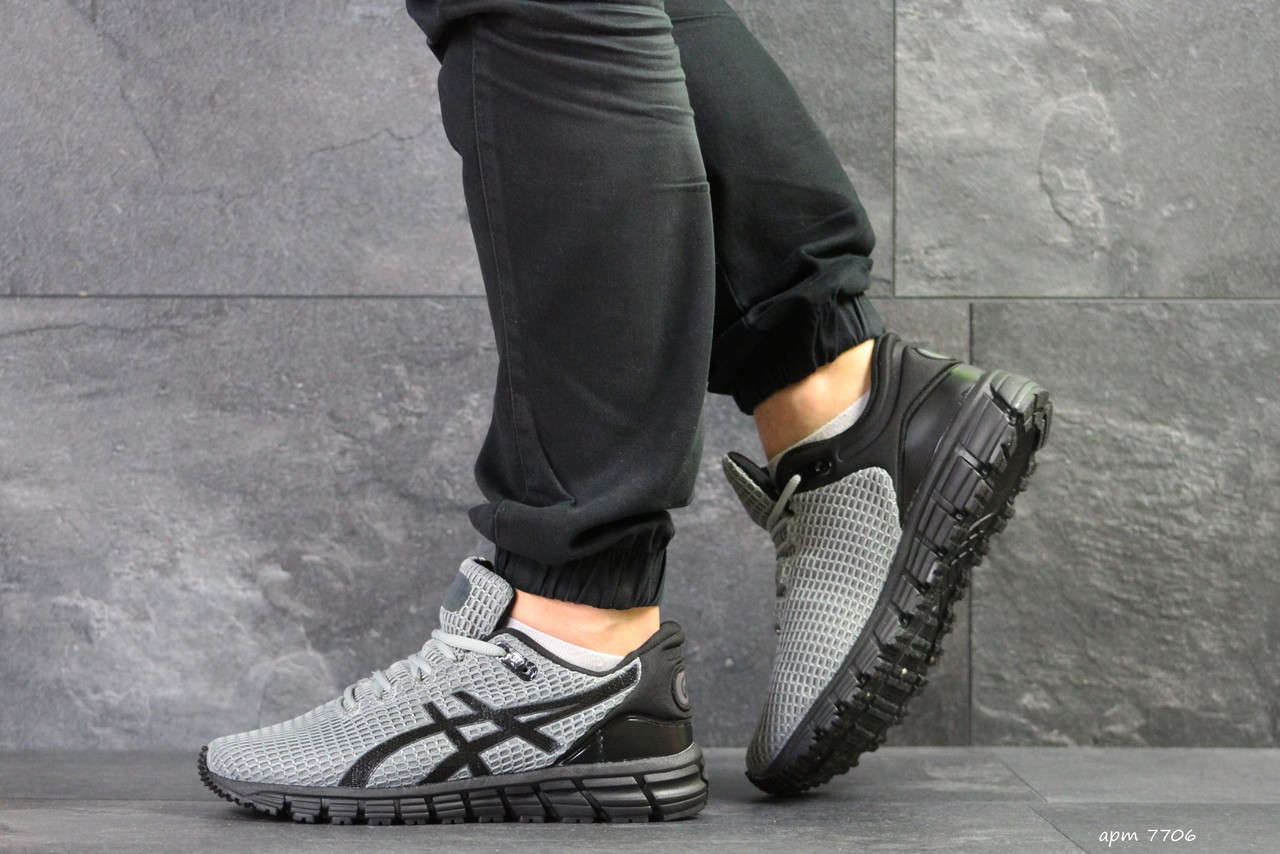 Мужские кроссовки Asics Gel-Quantum 360,сетка,темно серый