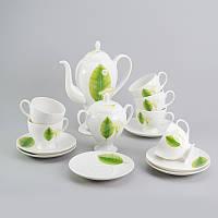 """Чайный сервиз """"Листья"""" 14ед., фото 1"""