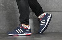 Мужские кроссовки Adidas ZX 750,темно синие с белым, фото 1