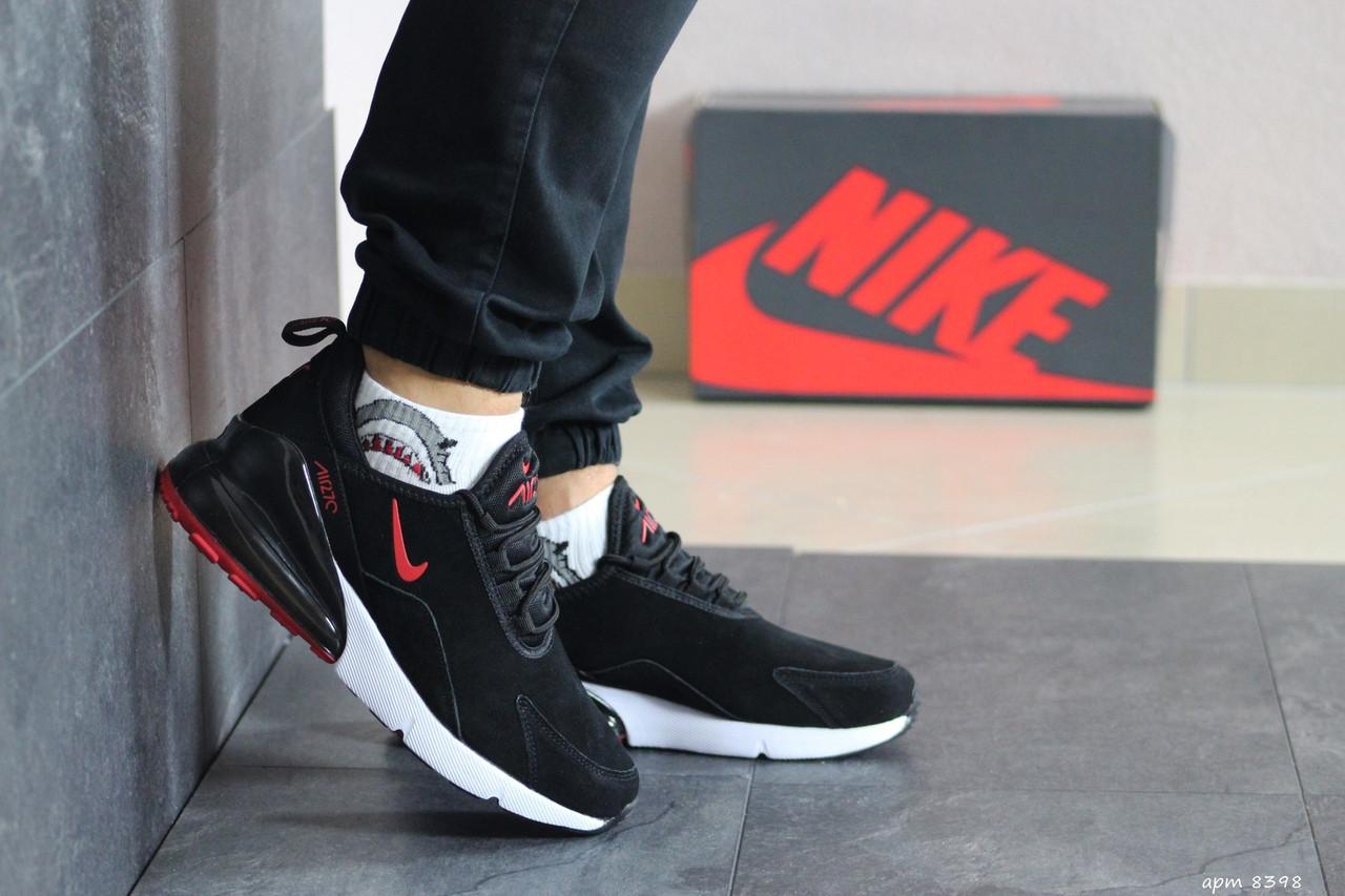 Мужские замшевые кроссовки Nike Air Max 720,черно-белые 44р