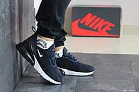 Мужские замшевые кроссовки Nike Air Max 720,темно синие с белым, фото 1