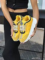 Женские Кроссовки Versace,желтые, фото 1