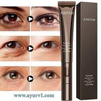 Омолаживающий крем с экстрактом красной икры для кожи вокруг глаз Jomtam с массажным роллером / 20 г
