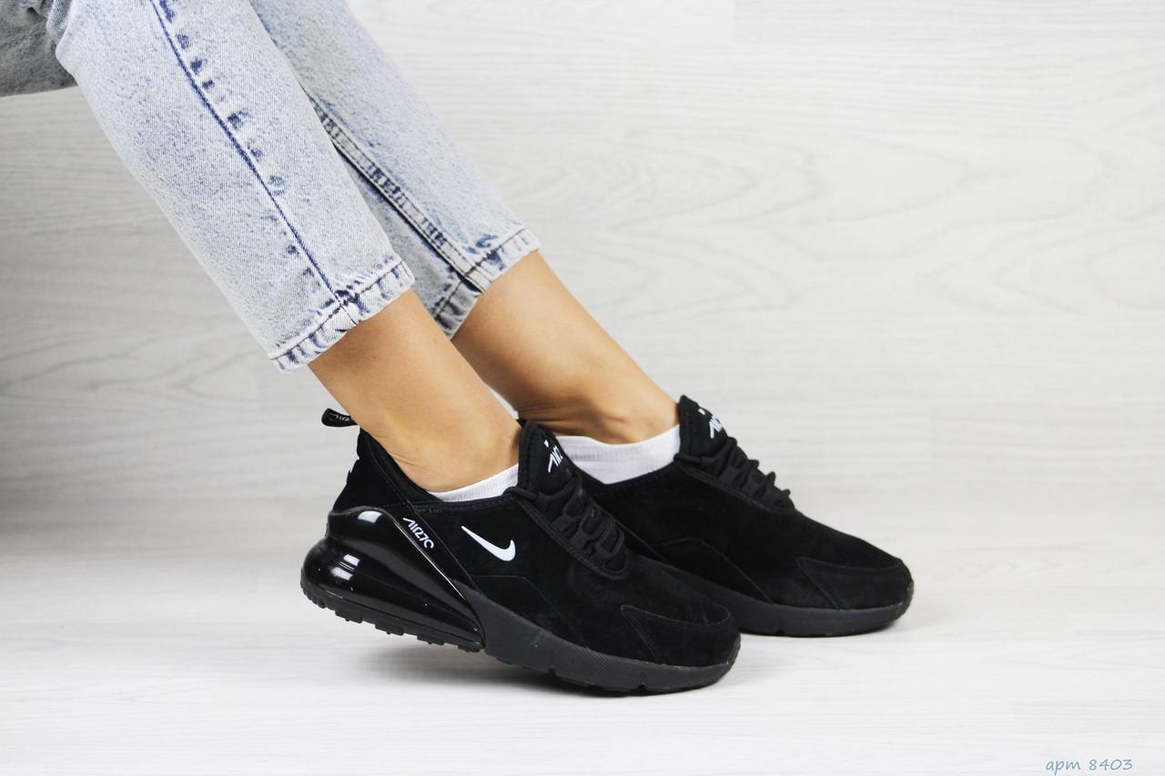 Замшевые женские кроссовки Nike Air Max 270,черные,41р