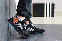 Мужские кроссовки Adidas Nite Jogger Boost,черные с серым, фото 1