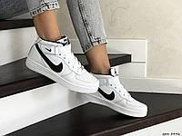 Высокие подростковые,женские кроссовки Nike Air Force,белые с черным 40,41р, фото 1
