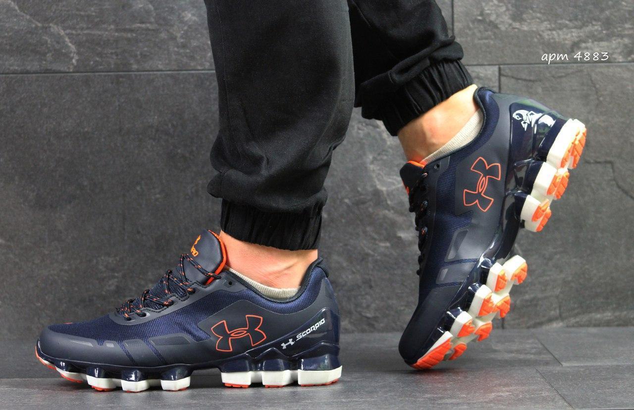 Кроссовки Under Armour Scorpio,темно синие с оранжевым