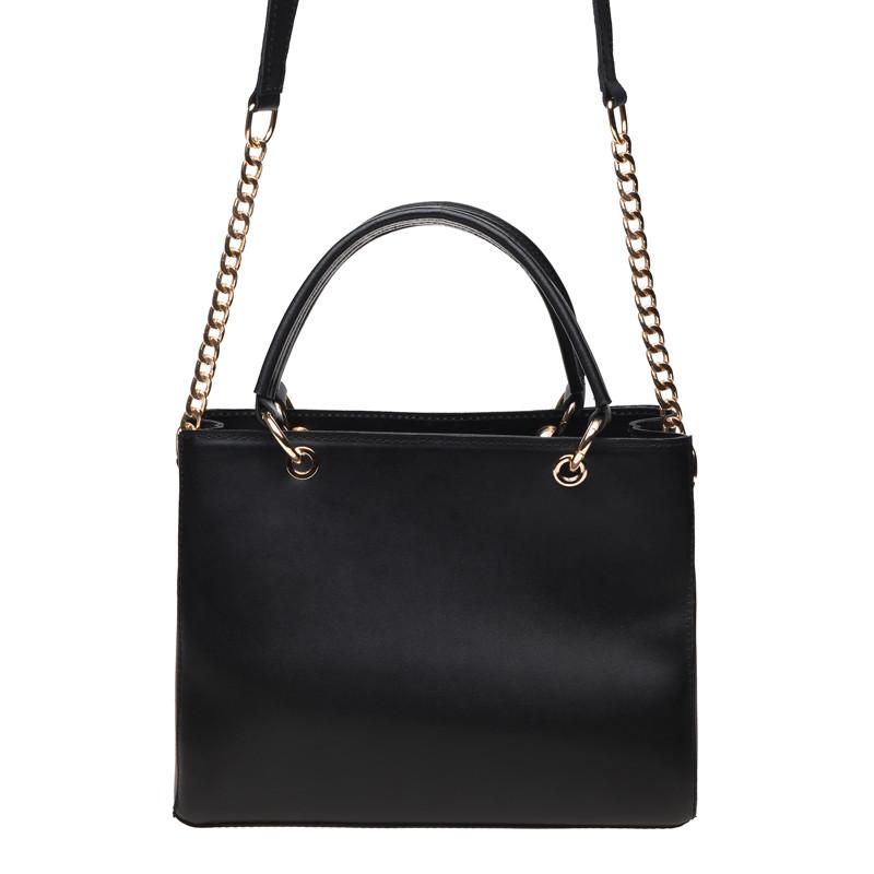 Кожаная сумка, черная