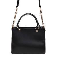 Кожаная сумка, черная, фото 1