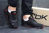 Мужские кожаные кроссовки Reebok,черные,сетка, фото 1