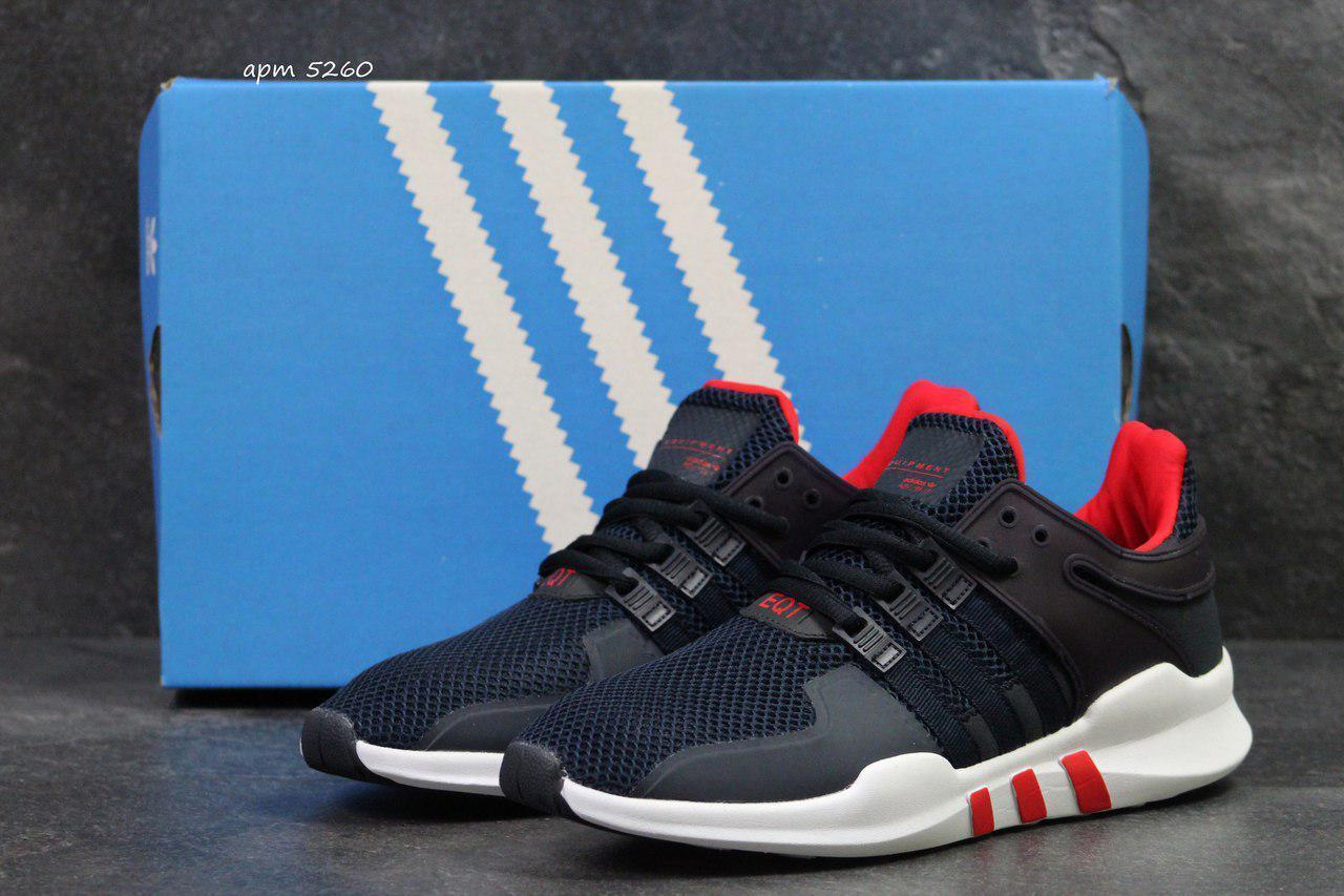 Кроссовки мужские Adidas Equipment adv 91-17,темно синие с красным 44р