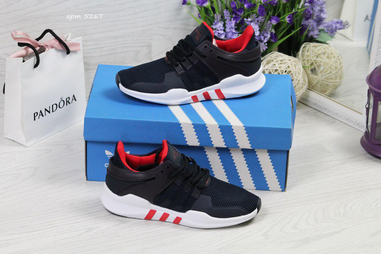 Кроссовки женские Adidas Equipment adv 91-17,темно синие с красным 38р