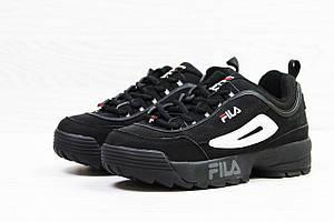 Подростковые кроссовки Fila,черные 40р