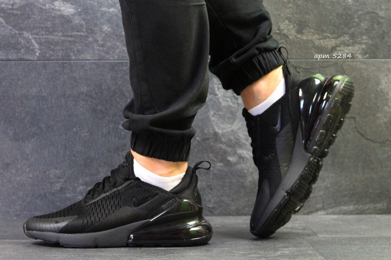 Летние мужские кроссовки Nike Air Max 270,черные  44р