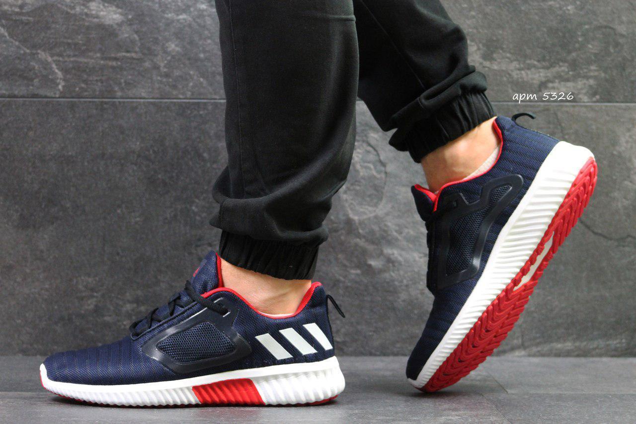 Кроссовки мужские Adidas ClimaCool,сетка,темно синие с белым