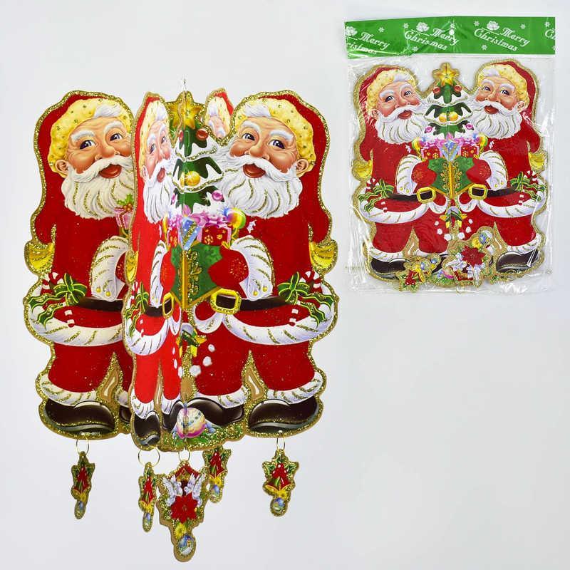 Новогоднее украшение Дед Мороз в п/э 27*1*36см /200/