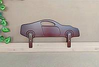 """Защитный бортик для кровати от производителя """"Машинка"""" (итальянский орех) 90 см."""
