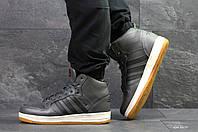 Высокие зимние кроссовки Adidas Cloudfoam,серые,на меху, фото 1