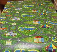 Детский теплоизоляционный развивающий игровой коврик  Городок 2000×1100×12мм