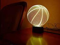 """Детский ночник - светильник """"Баскетбольный мяч"""" 3DTOYSLAMP, фото 1"""