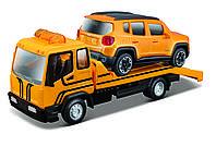 Игровой набор Bburago Эвакуатор c автомоделью Jeep Renegade (18-31417)